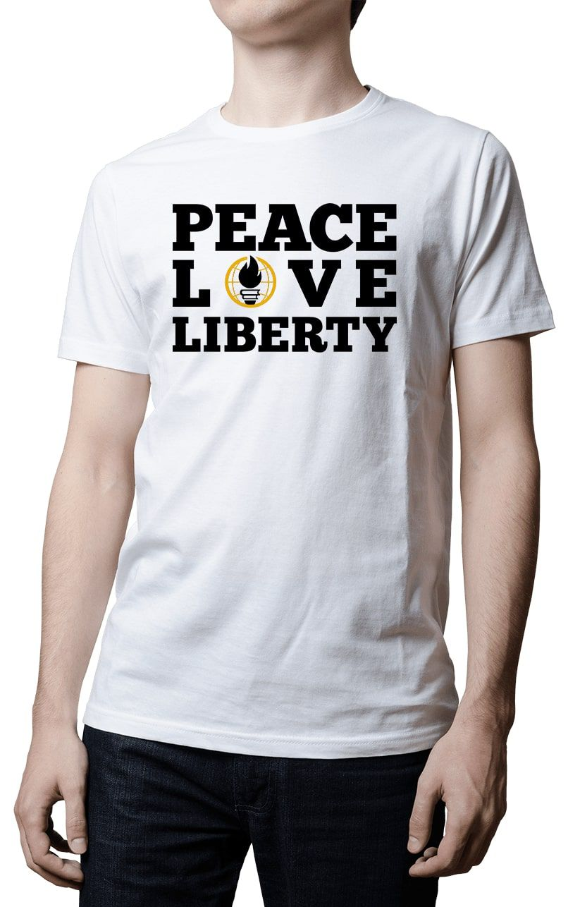 Camiseta -   SFLBR - Peace Love Liberty
