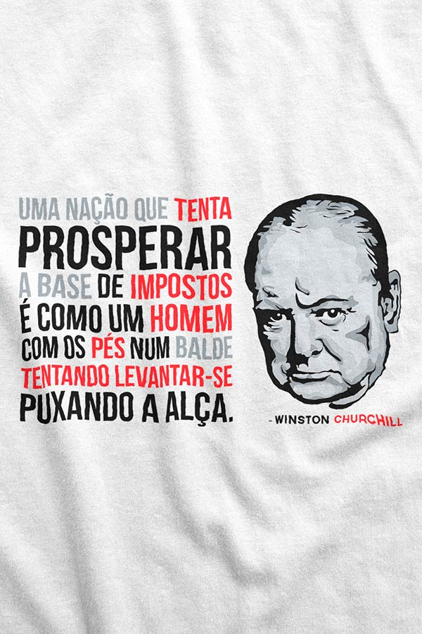 Camiseta - Winston Churchill - Impostos