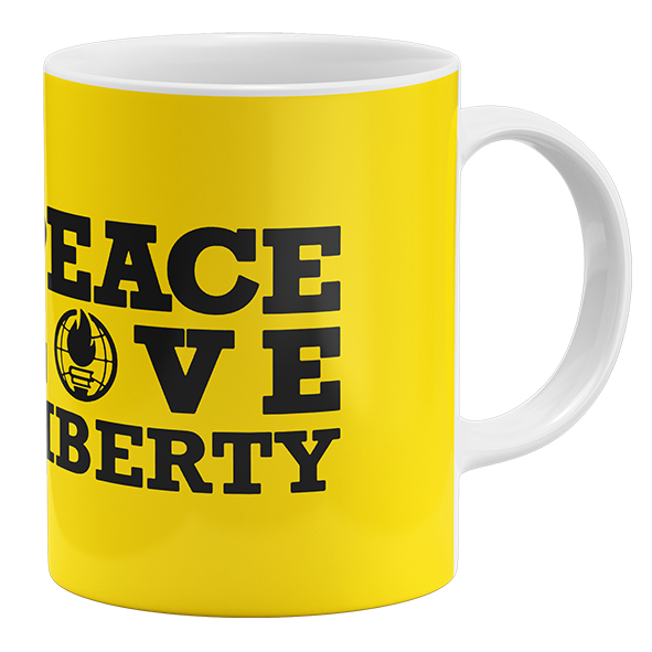 Caneca Peace, Love, Liberty
