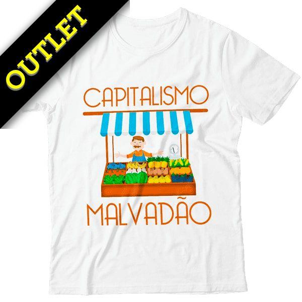 OUTLET - Camiseta Capitalismo Malvadão (Feirante)