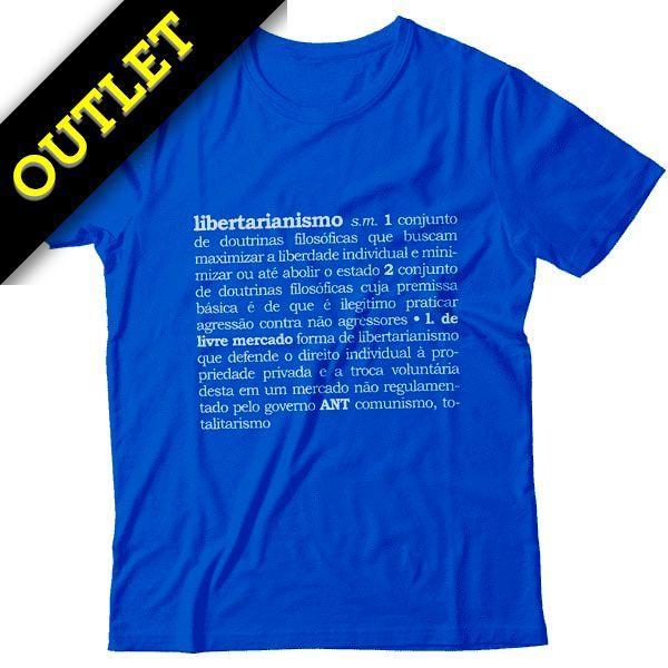 OUTLET - Camiseta Libertarianismo Definição