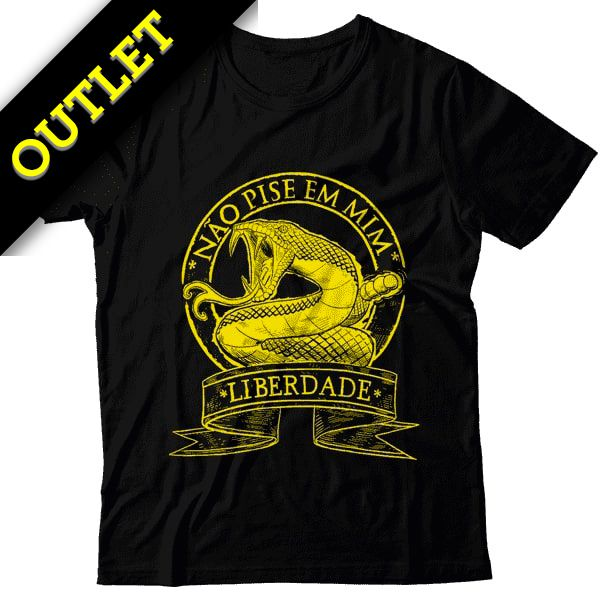 OUTLET - Camiseta Não Pise em Mim - Liberdade