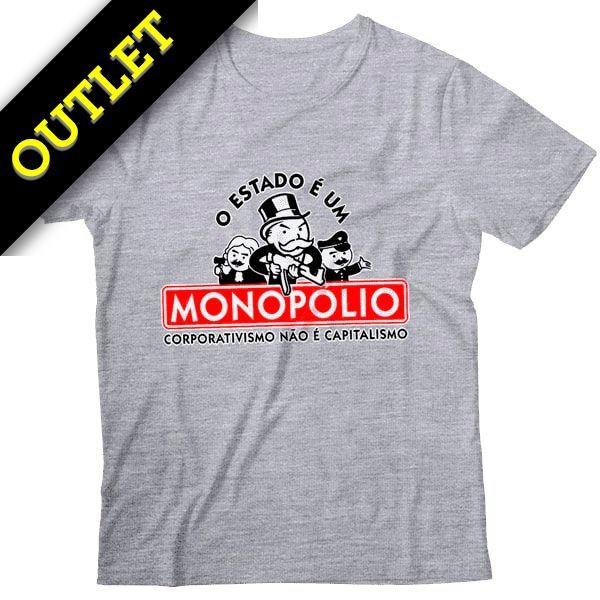 OUTLET - Camiseta O Estado é um Monopólio