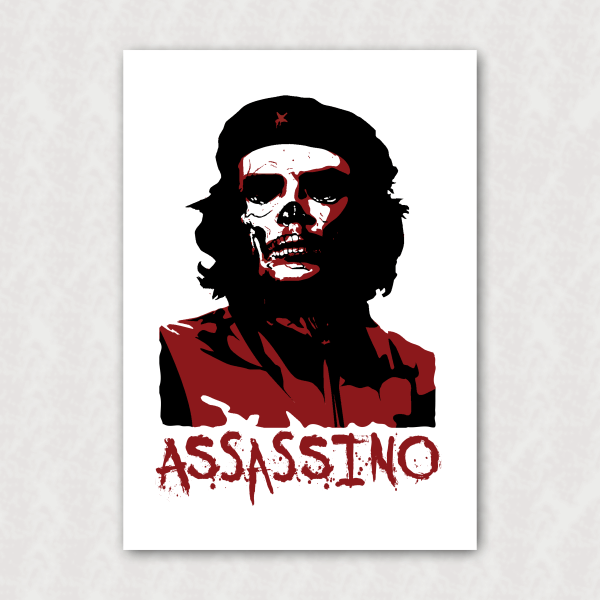 Placa - Anti-Che Guevara - Assassino