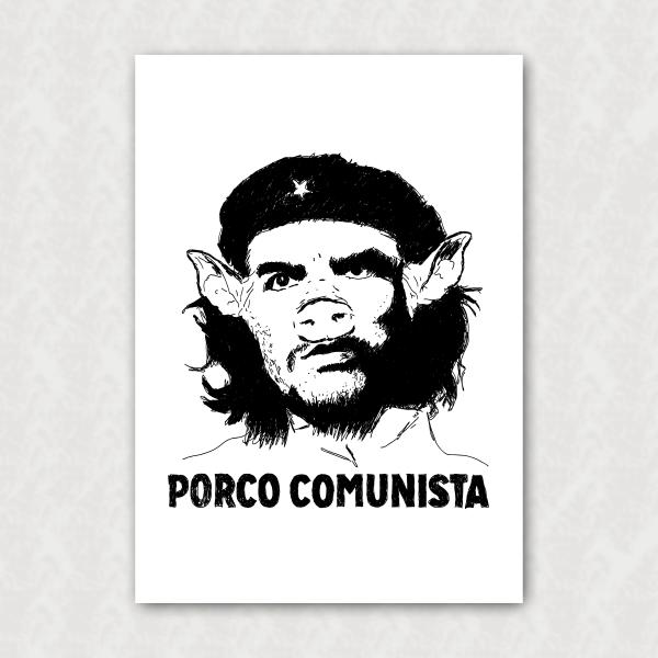 Placa - Anti-Che Guevara - Porco Comunista