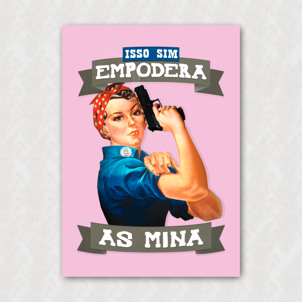 Placa - Empodera as Mina