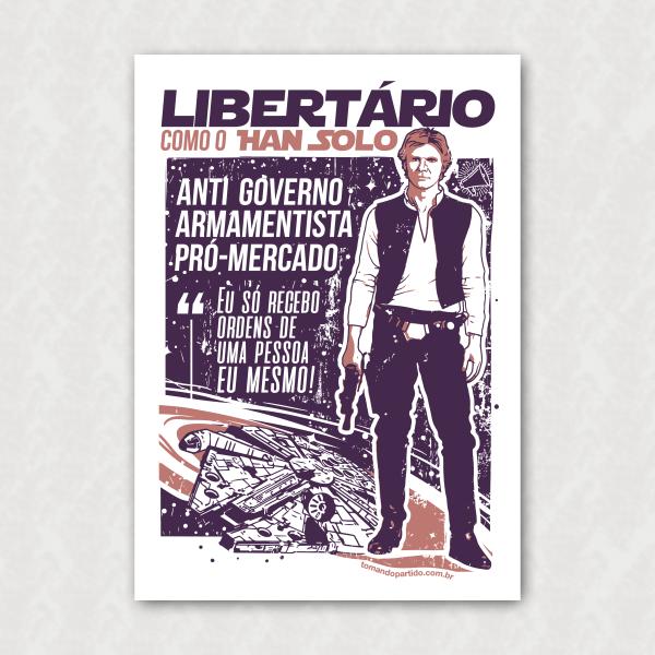 Placa  - Han Solo Libertário