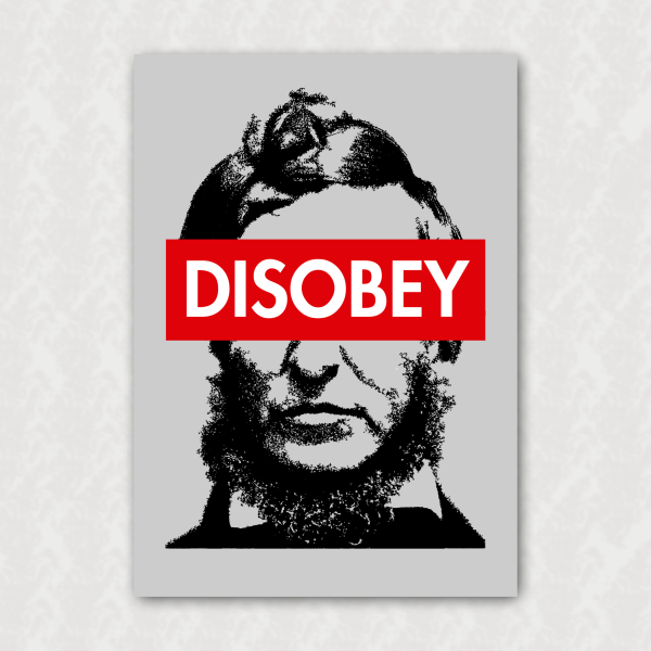 Placa - Thoreau - Disobey