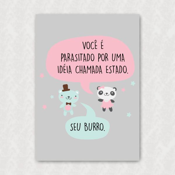 Placa - Ursinhos Libertários - Idéia Parasita