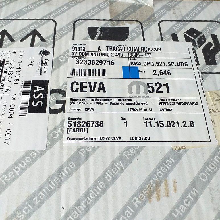 FAROL DIANTEIRO DIREITO LINEA 2015/2016 - PEÇA GENUÍNA FIAT