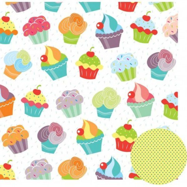 Papel Scrap - Feliz Aniversário - Cupcakes - Oficina do Papel (0175100)