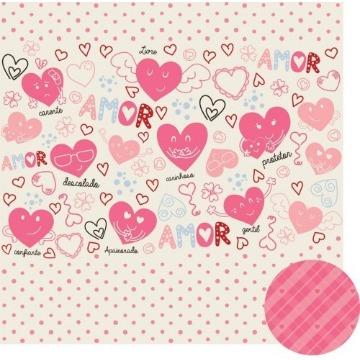 01.79.000 - Papel Scrap - Puro Amor - Oficina do Papel
