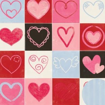 01.79.100 - Papel Scrap - Corações - Puro Amor - Oficina do Papel