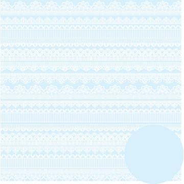 Papel Scrap - Rendas - Floral Chique - Oficina do Papel (0181100)
