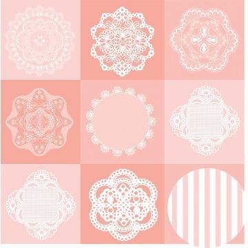 Papel Scrap - Dollies - Floral Chique - Oficina do Papel (01.81.400)
