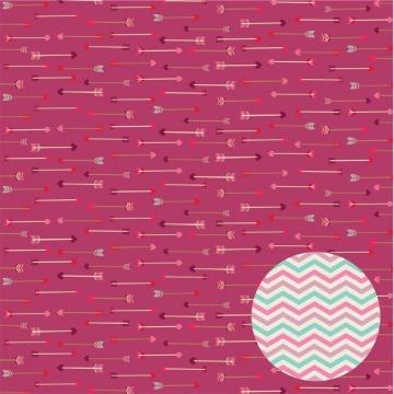 Papel Scrap - Setas - Coleção Amor Perfeito - Oficina do Papel (0186200)
