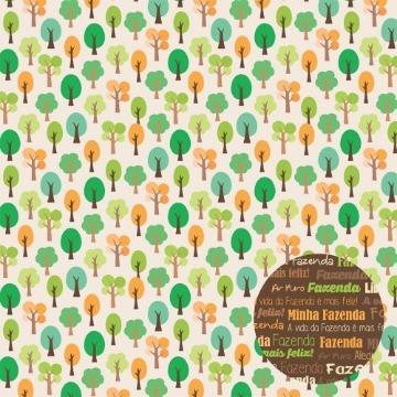 Papel Scrap - Árvores - Fazendinha - Oficina do Papel (01.87.400)