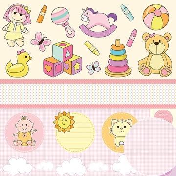 Papel Scrap - Minha Menina - Brinquedos - Oficina do Papel (0189200)