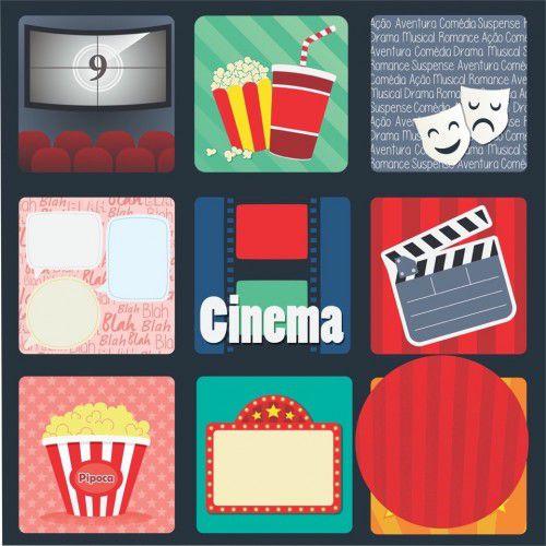Papel Scrap - Cinema - Coleção Cinema - Oficina do Papel (0191000)