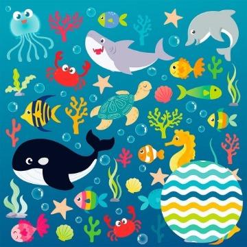 Papel Scrap - Fundo do Mar - Oficina do Papel (0193000)