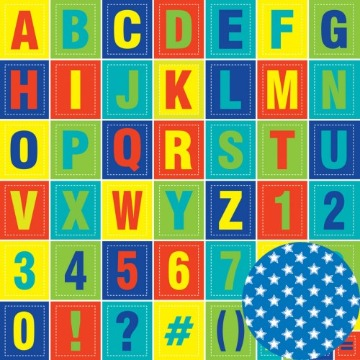 01.95.200 - Papel Scrap - Alfabeto - Hora de Aprender - Oficina do Papel