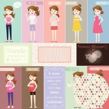 Papel Scrap - Bebê a Caminho - Oficina do Papel (01.96.000)