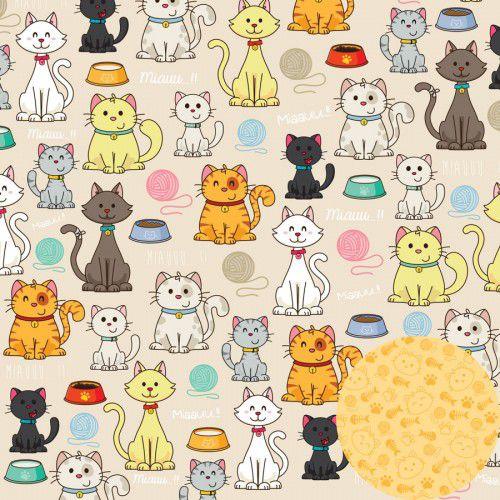 Papel Scrap - Miau - Meu Bichinhos - Oficina do Papel (0197300)