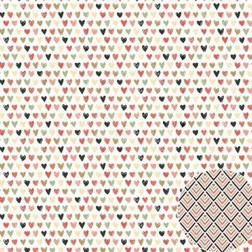 Papel Scrap - Corações - Coleção Para Sempre - Oficina do Papel (0204200)