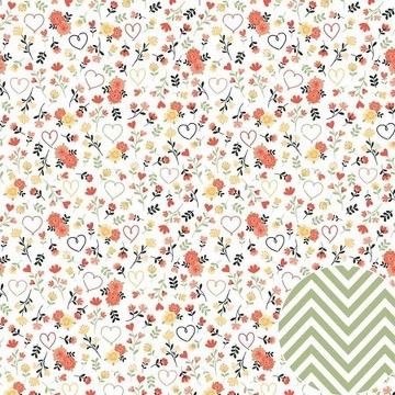 02.04.300 - Papel Scrap - Floral - Coleção Para Sempre - Oficina do Papel