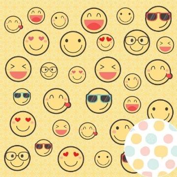 Papel Scrap - Emoji - Amigos do Coração - Oficina do Papel (02.10.200)
