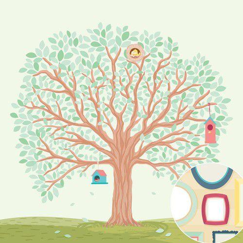 02.11.500 - Papel Scrap - Árvore Genealógica - Nosso Ninho - Oficina do Papel
