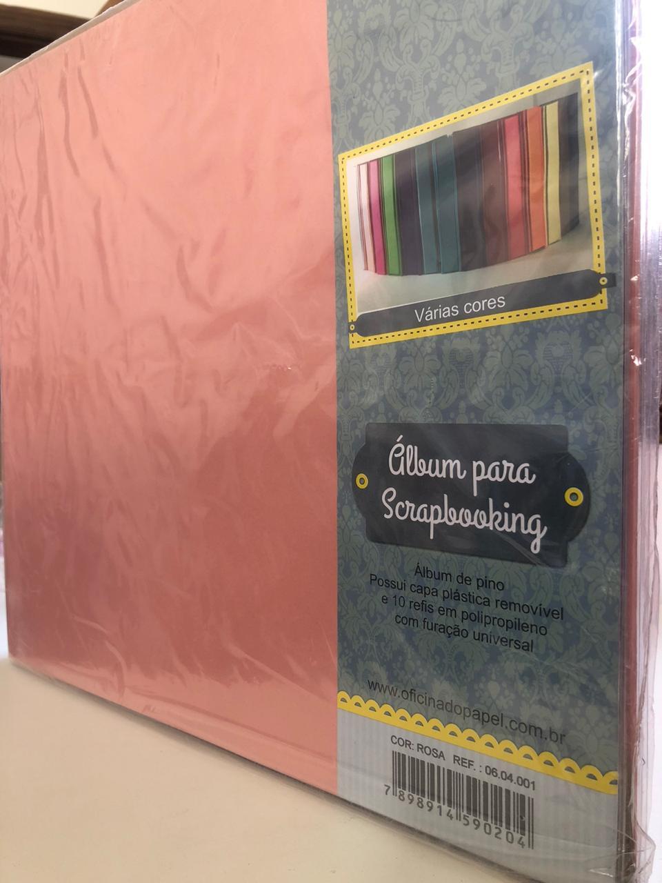 Álbum para Scrapbooking G - Rosa - Oficina do Papel (0604001)