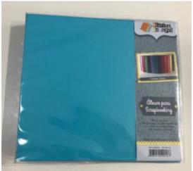 Álbum Scrapbook G Turquesa - Oficina do Papel (0604010)