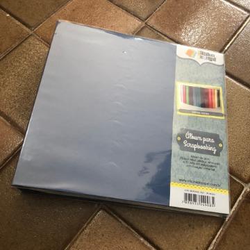 06.04.023 - Álbum para Scrapbooking 30,5 X 30,5 cm - Azul Marinho - Oficina do Papel