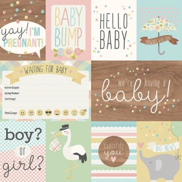 10251 - 3x4 & 4x6 Elements - Oh, Baby! Expecting - Simple Stories