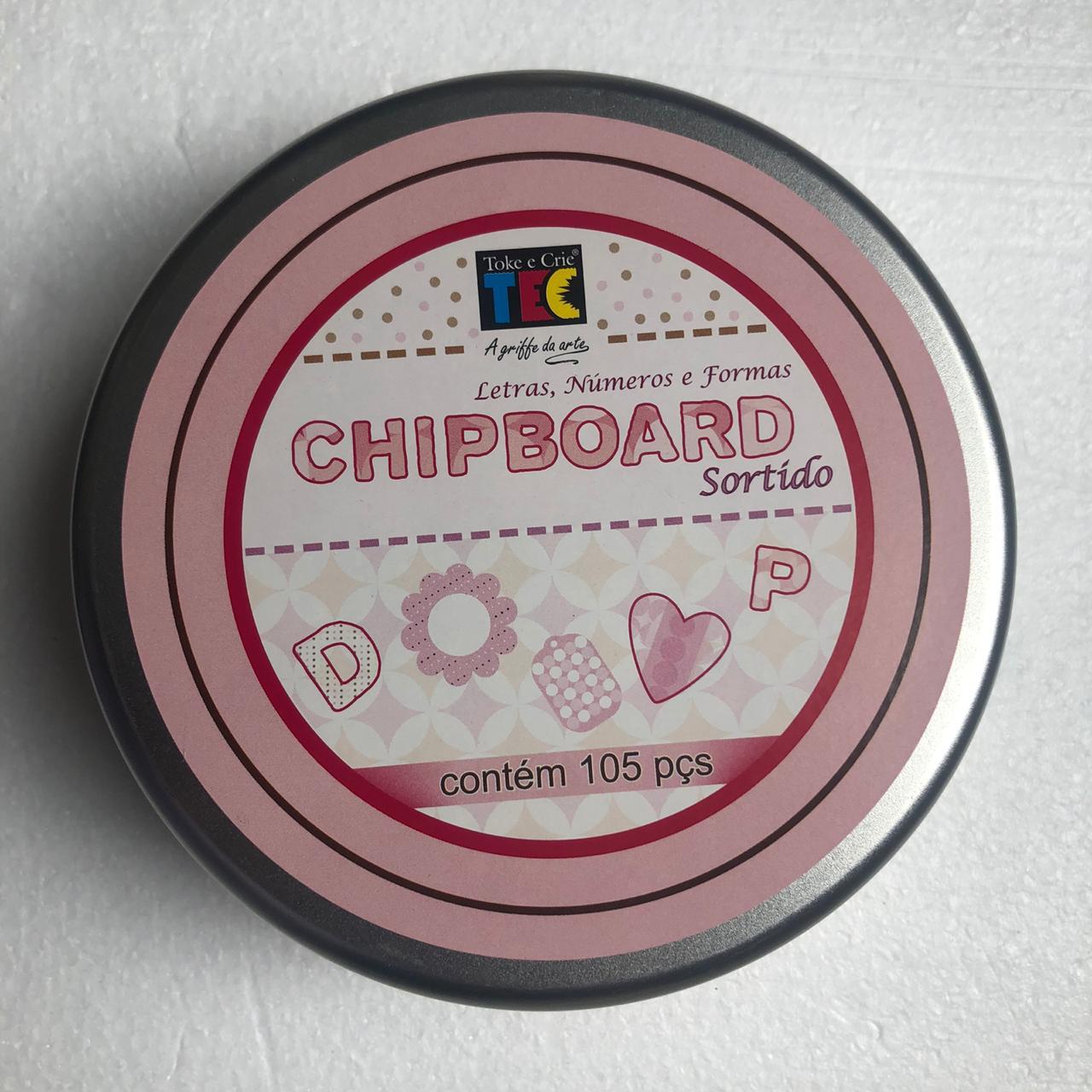 Chipboard Sortido Rosa Claro com 105 peças - Toke e Crie (10272)