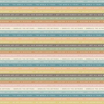 Papel Scrap - Off The Grid - Coleção Simple Vintage Traveler - Simple Stories (10450)