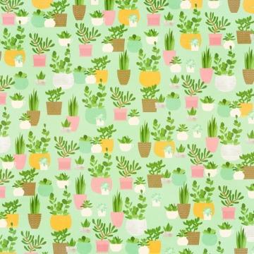 Papel Scrap - Plant Smiles - Spring Farmhouse - Simple Stories (10592)