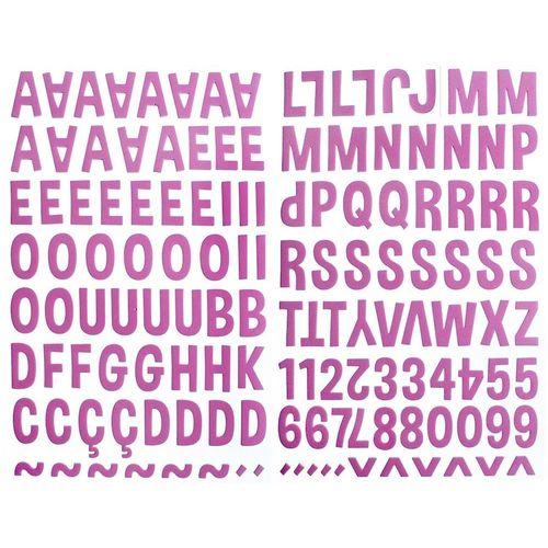 16105 - Adesivos Alfabeto EVA - Maiúsculo Rosa Claro (ADF1598) - Toke e Crie