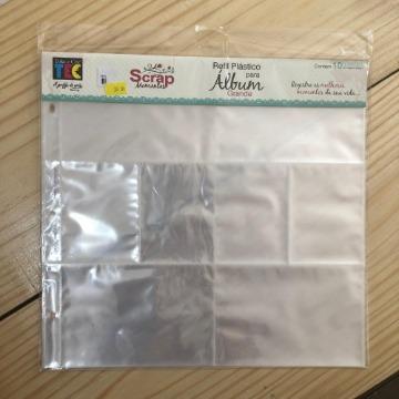 Refil Plástico Design A (c/ 10 un.)  - Scrap Momentos Grande - Toke e Crie (16150)