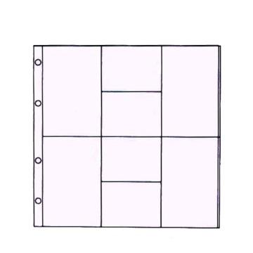16152 - Refil Plástico Design D (c/ 10 un.)  - Scrap Momentos Grande - Toke e Crie