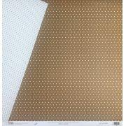 Papel Scrap - Bolinha Chocolate - Oficina do Papel (0104008)