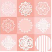 Papel Scrap - Dollies - Floral Chique - Oficina do Papel (0181400)