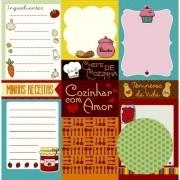 Papel Scrap - Cartões - Coleção Na Cozinha - Oficina do Papel (0184100)