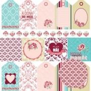 Papel Scrap - Tags - Coleção Mãe - Oficina do Papel (0185500)
