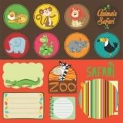 Papel Scrap - Tags - Coleção Safari - Oficina do Papel (0188200)