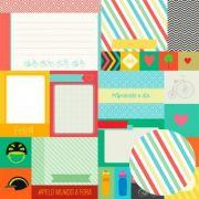 01.94.300 - Papel Scrap - Cards 1 - Pedalando - Oficina do Papel