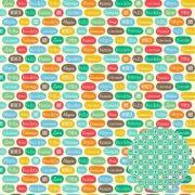 Papel Scrap - Palavras - Pedalando - Oficina do Papel (01.94.400)