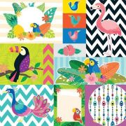 Papel Scrap - Cartões - Tropical - Oficina do Papel (02.08.300)