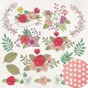Papel Scrap - Flores - Coleção Jardineira - Oficina do Papel (0209200)